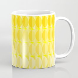Leaves in the sunlight - a pattern in yellow Coffee Mug