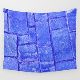 Purple stone wall Wall Tapestry