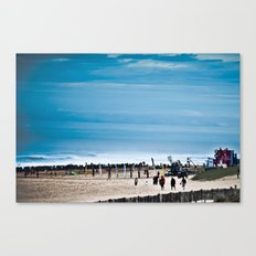Hossegor Beach, France. Surf World tour Canvas Print