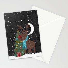 Festive Christmas Reindeer Stationery Cards