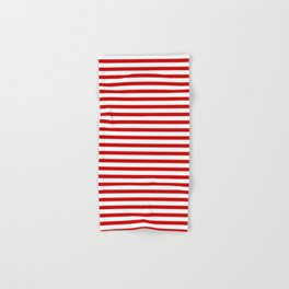 Red and White Stripes Hand & Bath Towel