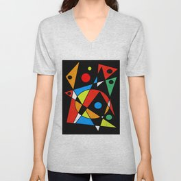 Abstract #120 Unisex V-Neck
