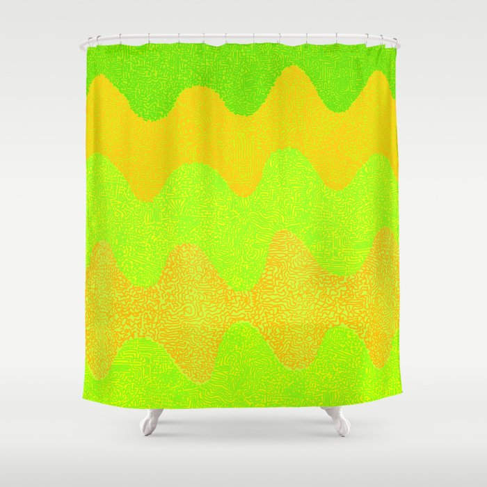 Under The Influence Marimekko Curves Melons Shower Curtain By Studioboomboom