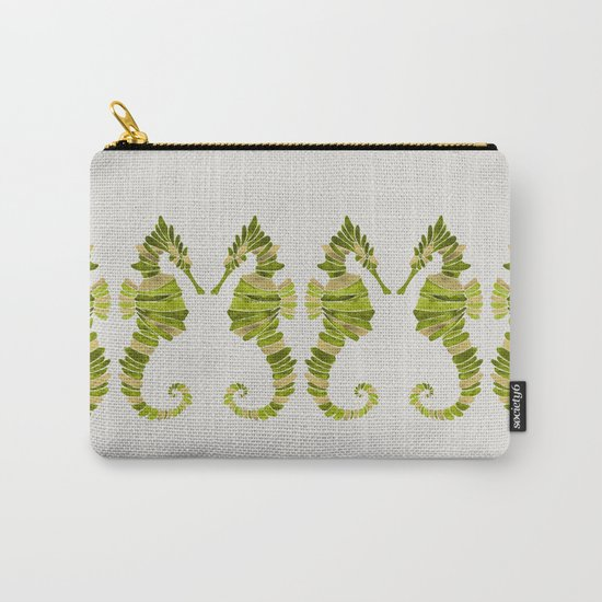 Seahorse – Lime & Gold Carry-All Pouch