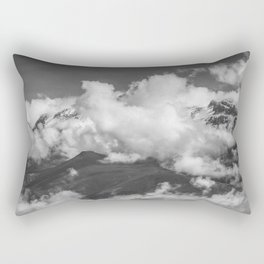 Volcano Chachani Covered by Clouds Rectangular Pillow