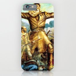 Classical Abolitionist Masterpiece by John Steuart Curry - Tragic Prelude  - John Brown. iPhone Case