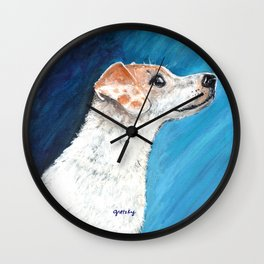 Jack Russell Terrier 2 Wall Clock