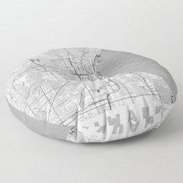 Milwaukee Map Line Floor Pillow