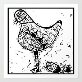 Chicken and egg Art Print