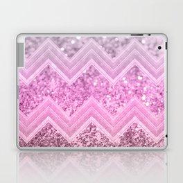 Unicorn Glitter Chevron #2 #shiny #decor #art #society6 Laptop & iPad Skin