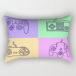 Nintendo Gaming Controllers - Retro Style! Rectangular Pillow