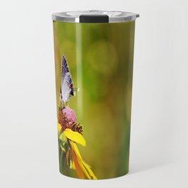 Brown Eyed Susan & Hairstreak Butterfly Travel Mug