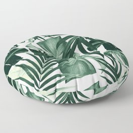 Tropical Jungle Leaves Pattern #4 #tropical #decor #art #society6 Floor Pillow