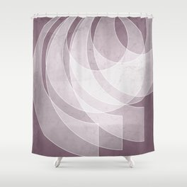 Orbiting Lace in Musk Mauve Tones Shower Curtain