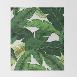 banana leaf palms Throw Blanket