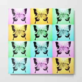 butterfly field Metal Print