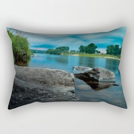 River Landscape Photography - The Banks of the Tay, Scotland Rectangular Pillow