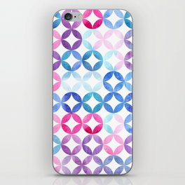 Geometric pattern with petals. Turkish pattern. iPhone Skin