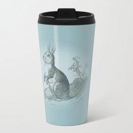 Bunny Rabbit {teal} Travel Mug