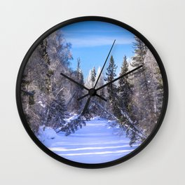 Frozen river Wall Clock