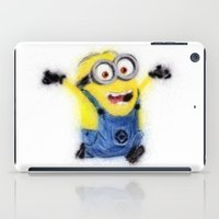 minion iPad Cases featuring Minion by KitschyPopShop