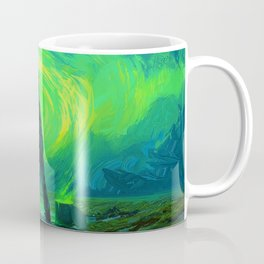 Man Paints the Northern Lights Coffee Mug