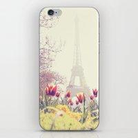 paris iPhone & iPod Skins featuring Paris by Gabriela Da Costa