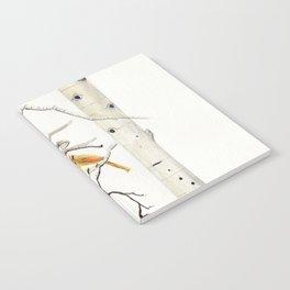 Birch Trees and Cardinal Notebook