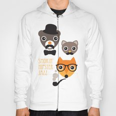 Hipster mustache animal jazz illustration design Hoody