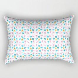 stars 5-multicolor stars,stars,yellow,night,sky,light dark,kitsch,rays,hope,pointed Rectangular Pillow
