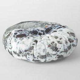 Sea Foam Selfies Floor Pillow