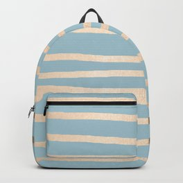 Abstract Drawn Stripes Gold Tropical Ocean Sea Blue Backpack