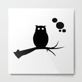 the owl awake Metal Print