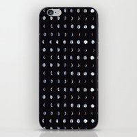 moon phase iPhone & iPod Skins featuring Moon Phase by Gracie Chai