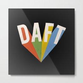 Letters : Daft II Metal Print