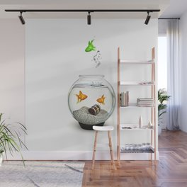 Gold Fish Outsider Wall Mural