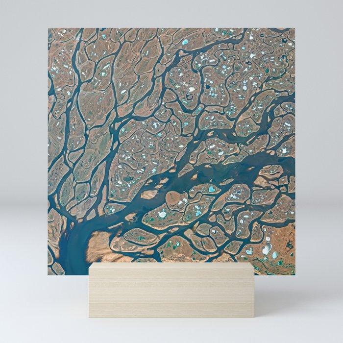 Lena Delta Satellite Image Mini Art Print