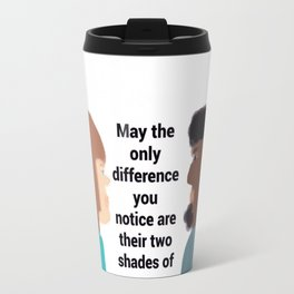 Shades of Green are the Signs of Growth Travel Mug