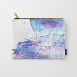 Blue white abstract Carry-All Pouch