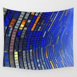 Big Blue Blocks Wall Tapestry