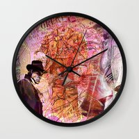 moriarty Wall Clocks featuring Sherlock  VS  Moriarty by Joe Ganech