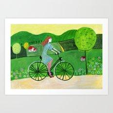 bike trip Art Print