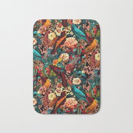 FLORAL AND BIRDS XVII Bath Mat