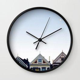 Moonlit Painted Ladies Wall Clock