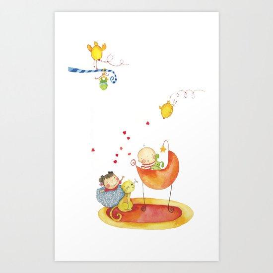 Baby surprise Art Print
