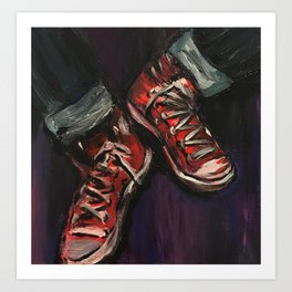 Red Converse Art Print