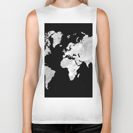 Design 70 world map Biker Tank