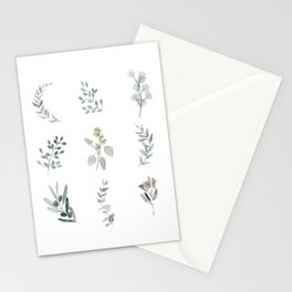 Botanical elements Stationery Cards