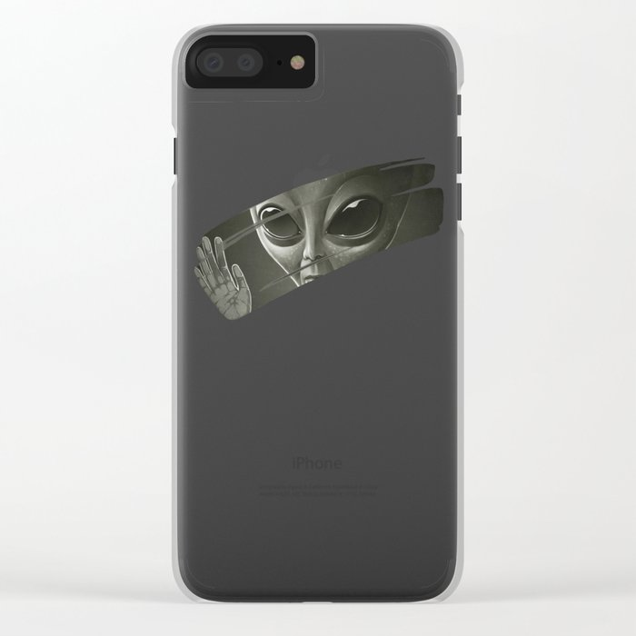 Alien Clear iPhone Case
