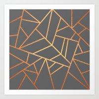Copper And Grey Art Print